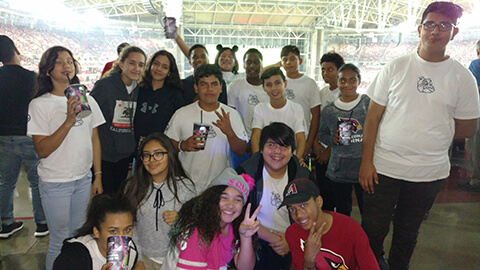 AmeriSchools Academy Phoenix students at sports event