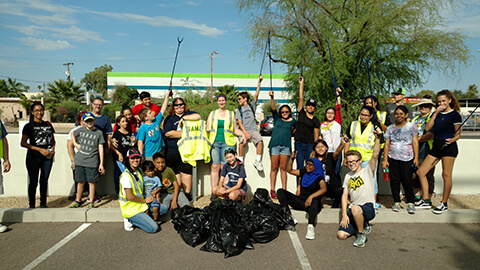 AmeriSchools Academy Phoenix students in the community