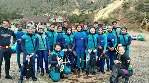 AmeriSchools Phoenix hands-on activity diving in Catalina