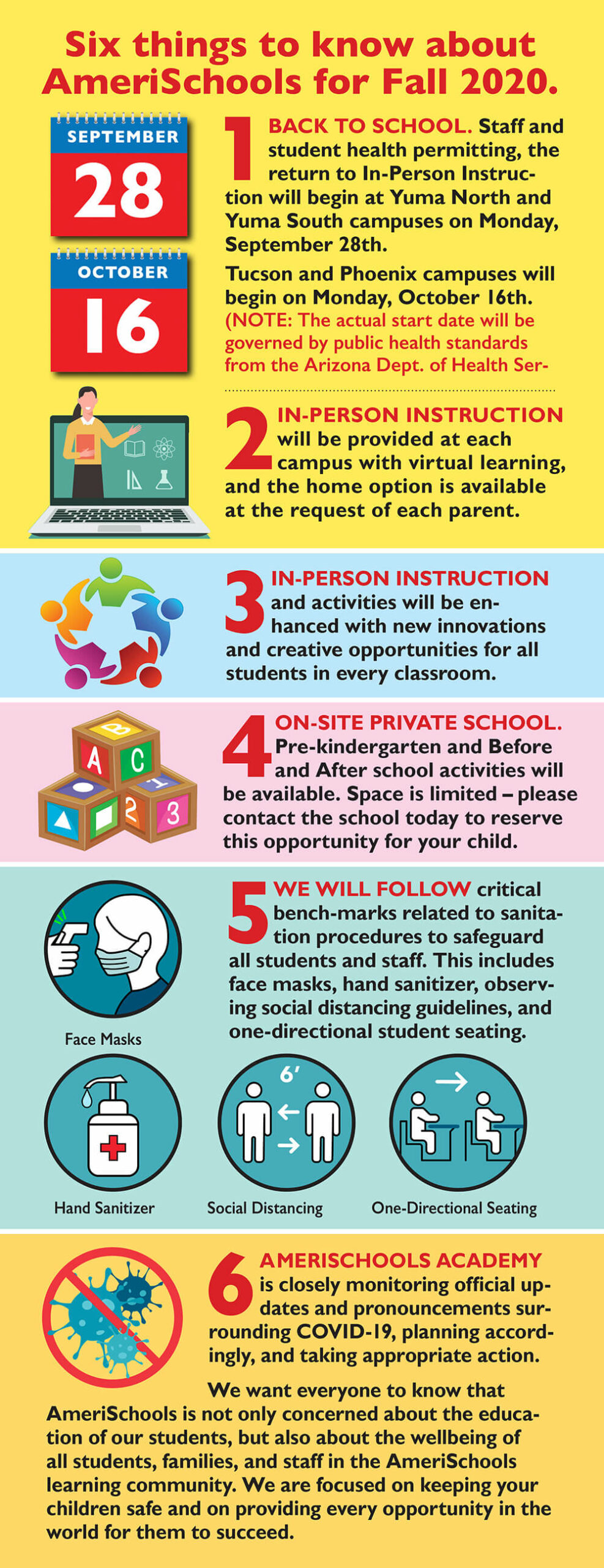 AmeriSchools Fall 2020 Back To School Guidelines