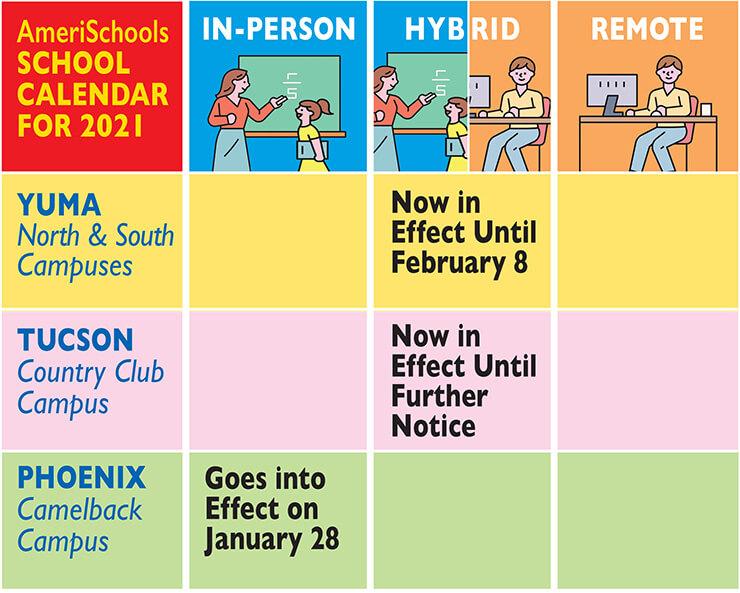 AmeriSchools calendar 2021