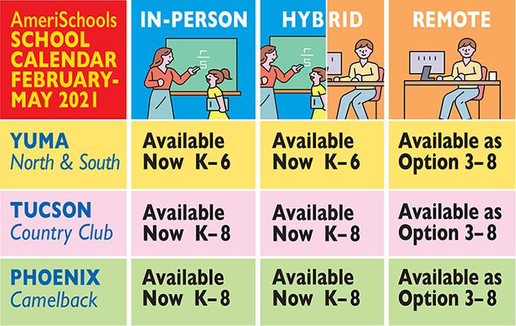 AmeriSchools 2021 Spring Calendar